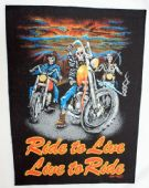 Ride to Live, Live to Ride - Giant Backpatch